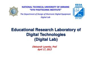 Educational Research Laboratory of Digital Technologies (Digital Lab)
