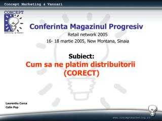 Concept Marketing & Vanzari