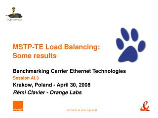 MSTP-TE Load Balancing: Some results