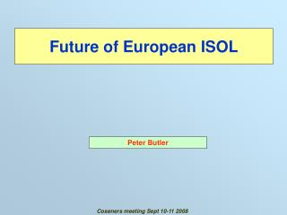 Future of European ISOL