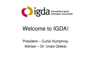 Welcome to IGDA!