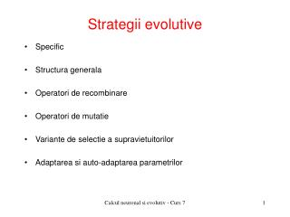 Strategii evolutive