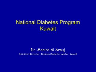 National Diabetes Program Kuwait