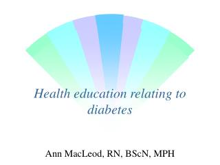 Health education relating to diabetes