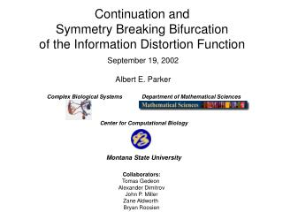 Continuation and Symmetry Breaking Bifurcation of the Information Distortion Function