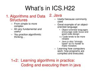 What's in ICS.H22