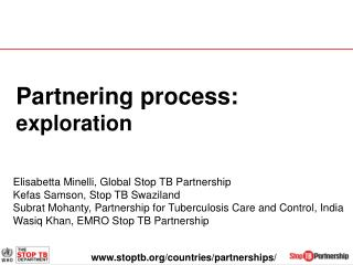Partnering process:  exploration