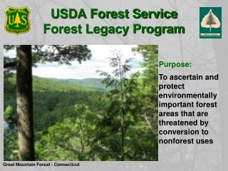 USDA Forest Service  Forest Legacy Program
