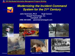 Modernizing the Incident Command System for the 21 st  Century