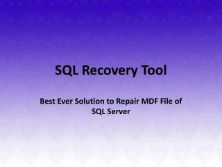 SQL Recovery Free