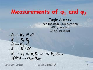 Measurements of  ? 1  and  ? 2