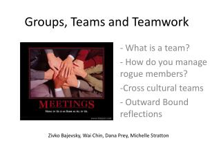 Groups, Teams and Teamwork