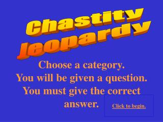 Chastity Jeopardy