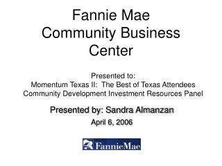 Fannie Mae Community Business Center