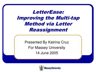 LetterEase:  Improving the Multi-tap Method via Letter Reassignment