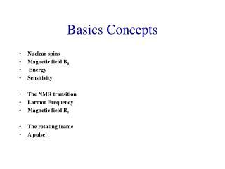 Basics Concepts