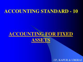 ACCOUNTING STANDARD - 10