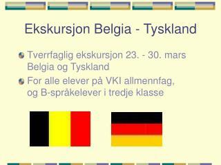 Ekskursjon Belgia - Tyskland
