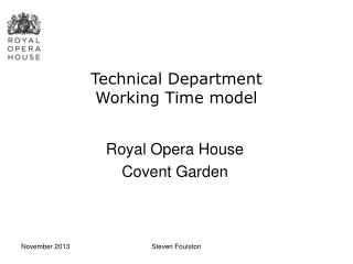 Technical Department  Working Time model