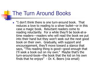 The Turn Around Books