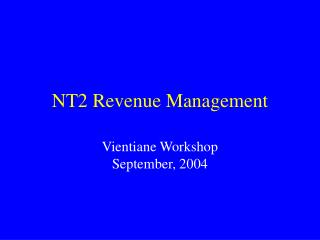 NT2 Revenue Management