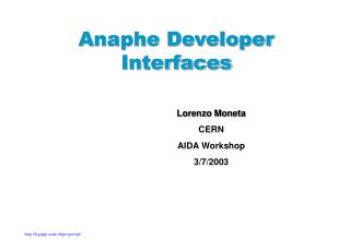 Anaphe Developer Interfaces