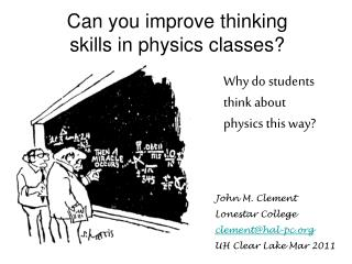 Can you improve thinking skills in physics classes?