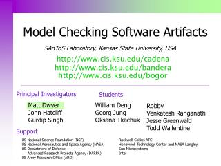 Model Checking Software Artifacts