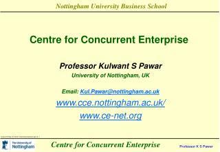 Centre for Concurrent Enterprise