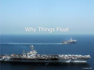 Why Things Float