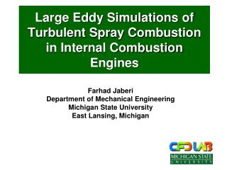 Large Eddy Simulations of Turbulent Spray Combustion in Internal Combustion Engines