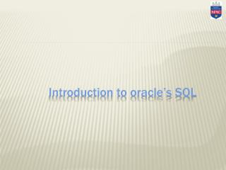 Introduction to oracle's SQL
