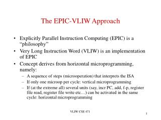 The EPIC-VLIW Approach