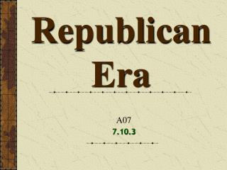 Republican Era