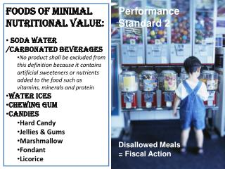Foods of Minimal Nutritional Value: Soda Water /carbonated beverages