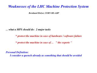 Weaknesses of the LHC Machine Protection System