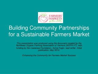 Building Community Partnerships for a Sustainable Farmers Market