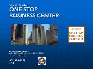 City of Houston ONE STOP