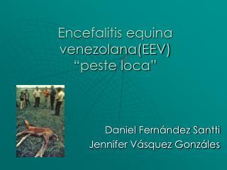 "Encefalitis equina venezolana(EEV) ""peste loca"""