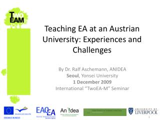 Teaching EA at an Austrian University: Experiences and Challenges