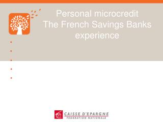 Personal microcredit The French Savings Banks experience
