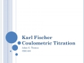 Karl Fischer Coulometric Titration