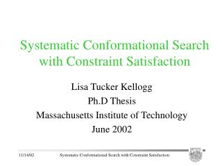 Systematic Conformational Search with Constraint Satisfaction