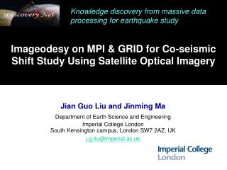Imageodesy on MPI & GRID for Co-seismic Shift Study Using Satellite Optical Imagery