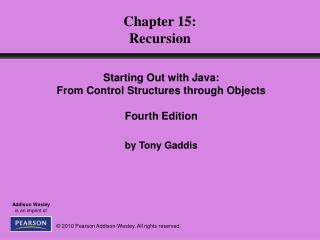 Chapter 15: Recursion