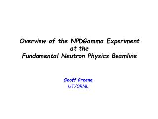 Overview of the NPDGamma Experiment at the Fundamental Neutron Physics Beamline