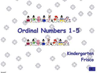Ordinal Numbers 1-5