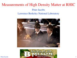 Measurements of High Density Matter at RHIC