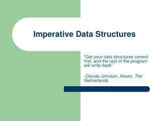 Imperative Data Structures
