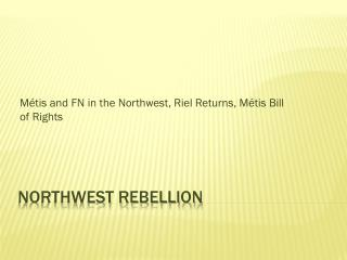 Northwest rebellion
